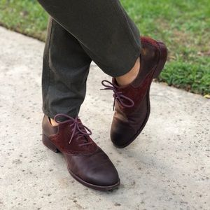 Cole Haan Nike Air MENS Saddle Shoes Oxblood 9M